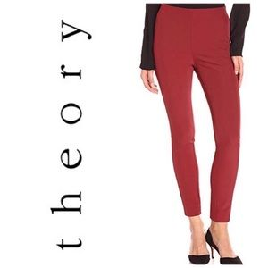 NWOT Theory Navalane Pants Black Cherry SIZE 00